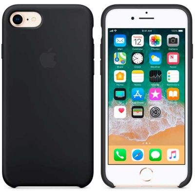 Чехол iPhone 8 / 7 Silicone Case - Black MQGK2ZM/A |