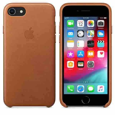 Чехол iPhone 7 Leather Case - Saddle Brown MMY22ZM/A |