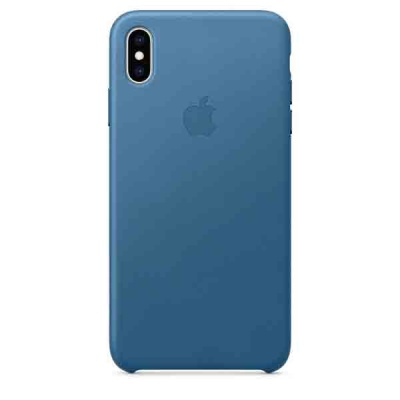 Чехол iPhone XS Max Leather Case - Cape Cod Blue MTEW2ZM/A |