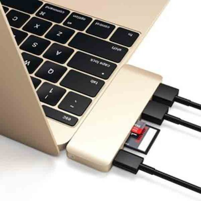 "Адаптер Type-C USB 3.0 Passthrough Hub для Macbook 12""."