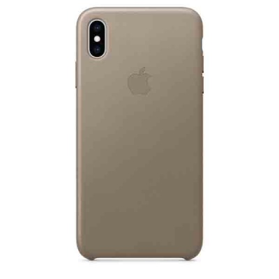 Чехол iPhone XS Max Leather Case - Taupe MRWR2ZM/A |