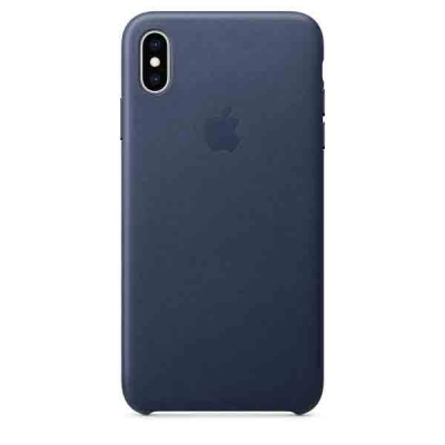 Чехол iPhone XS Max Leather Case - Midnight Blue MRWU2ZM/A |